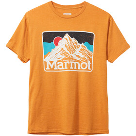 Marmot Mountain Peaks Camiseta Manga Corta Hombre, aztec gold heather